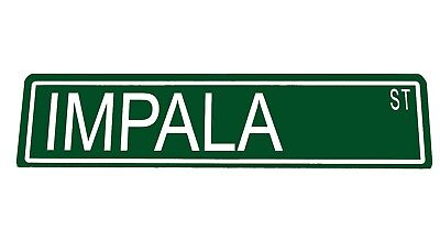 "Custom Metal Street Sign ""Impala St"" Garage Man Cave Car 42070z"