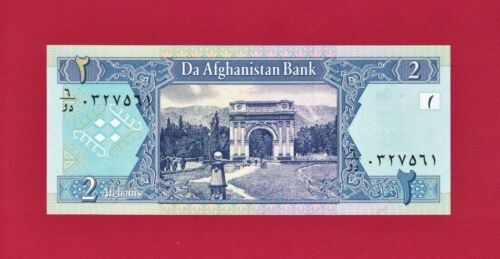 AFGHANISTAN TALIBAN 2 AFGHANIS 2002 SH-1381 UNC NOTE (P-65a) PRINTER G&D Germany