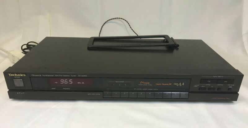 Technics AM FM Tuner Stereo Quartz Synthesizer ST-G450 Made in Japan TESTED