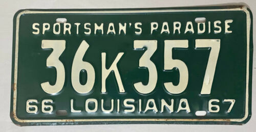 1967 LOUISIANA License Plate - LA #36K357