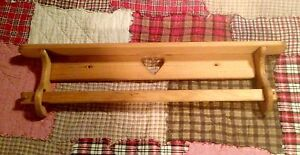 Country heart pine shelf with blanket rod