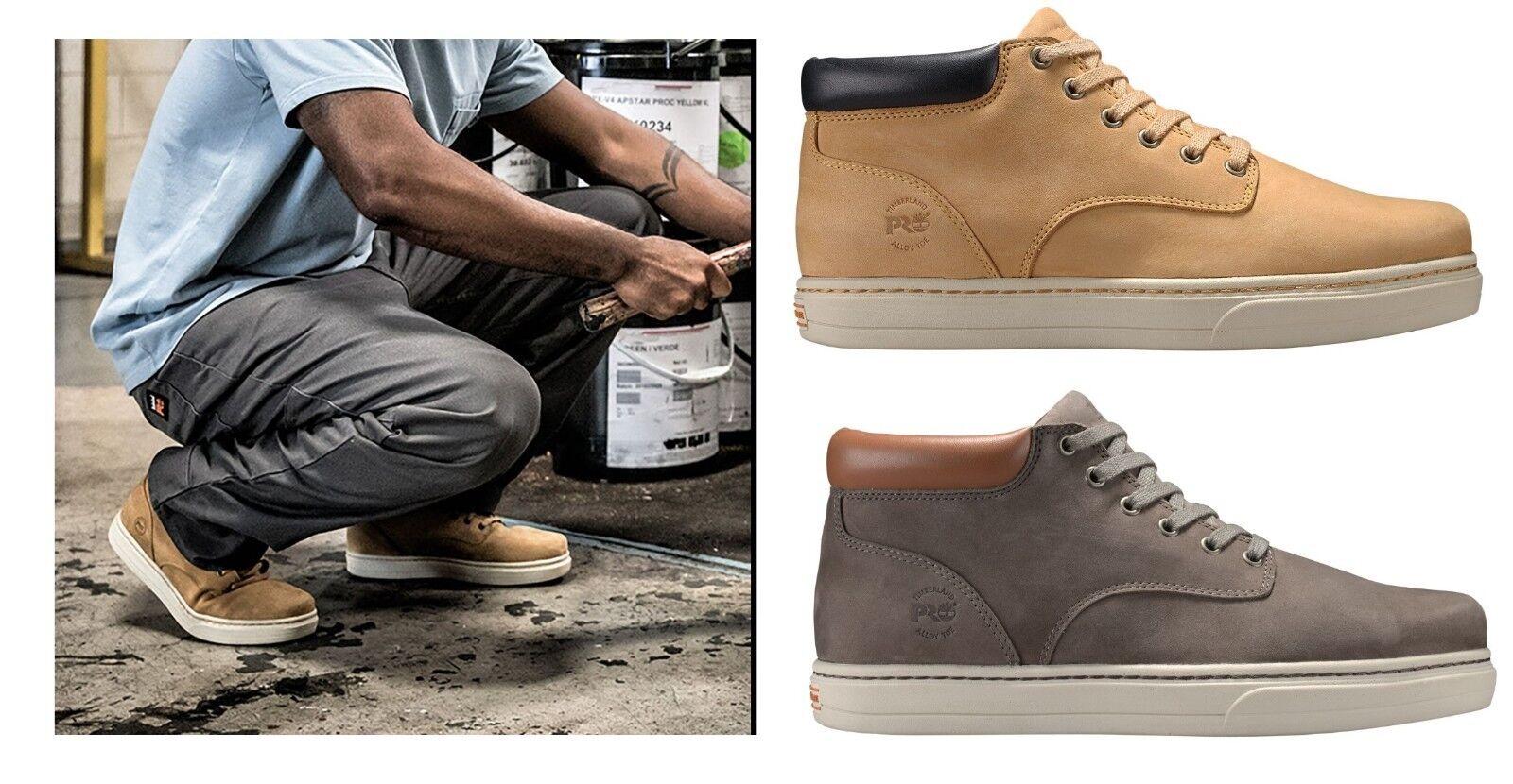 Timberland PRO Men's Boots Disruptor Mid Alloy Toe Chukka Work Boots WIDE Meduim