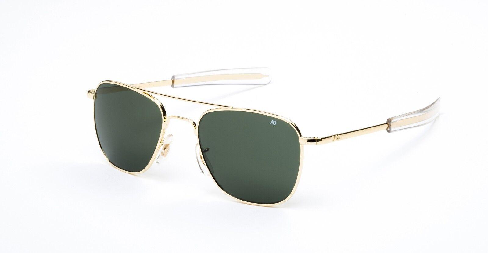 9d4576a43f9f American Optical AO Original Pilot Gold Calobar Green Non-Polarized Glass  Lens