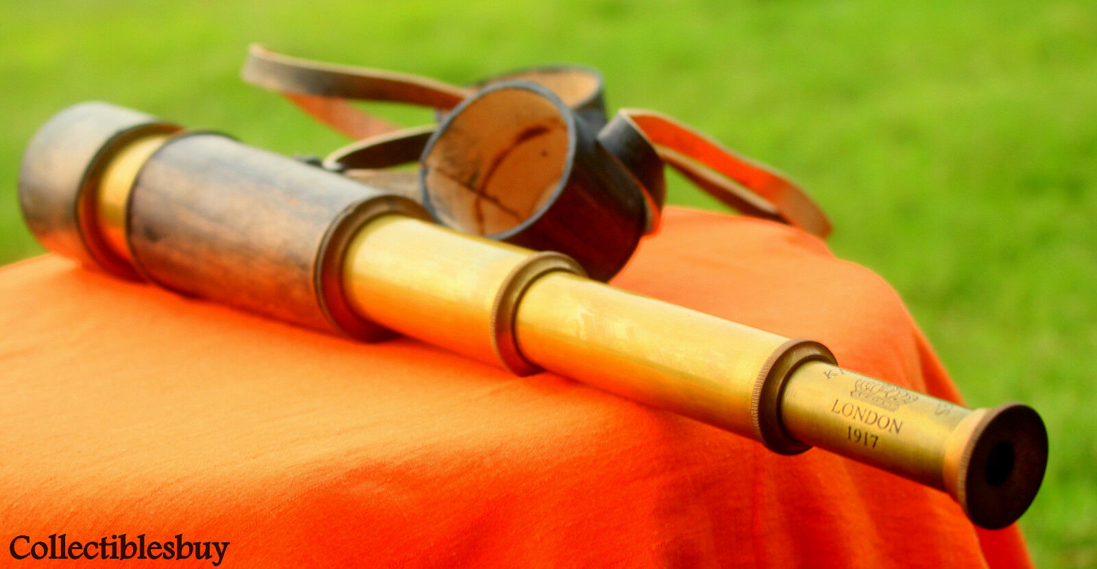 Maritime Brass Antique Telescope Leather Vintage Spyglass Lens Cap Hand Marine