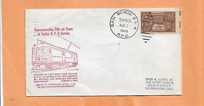 56 Anni Trolley R.p.o Service TR501 1949 San Berdo & la Vintage Cover+