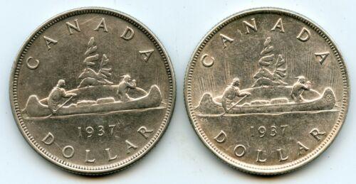 Genuine Lot of (2) 1937 Canada Dollars