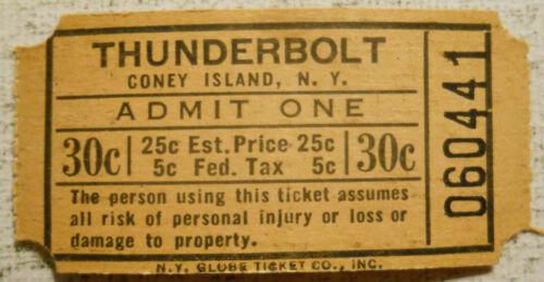 Thunderbolt Roller Coaster (Coney Island, New York) 1940