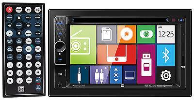 "DUAL XDVD210BT 6.2"" 2-Din In-Dash Car Monitor DVD/USB/SD+Bluetooth+External Mic"