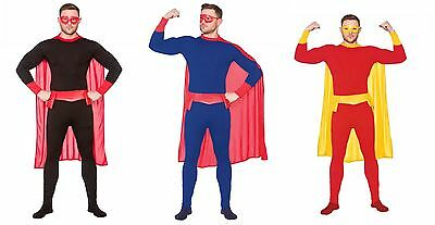 NEW Mens Superhero - Comic Book Hero Mens Fancy Dress Halloween Costume