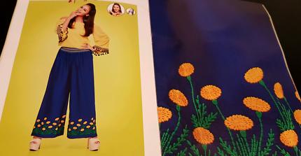Women's long Peruvian  style pants linen light weight Cool & Exc