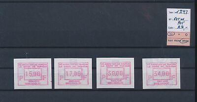 LL96001 Belgium 1997 tam-tam magic ATM stamps fine lot MNH cv 22 EUR