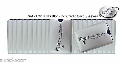 20  RFID Blocking Credit Card Sleeve Holder Identity ID Chip Theft Protection US