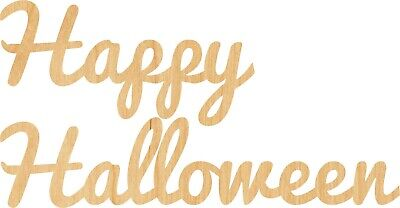 Halloween Cut Out Shapes (Happy Halloween #0672 Laser Cut Out Wood Shape Craft Supply -)