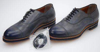 SANTONI MAN BUSINESS DERBY CLASSIC FORMAL DRESS SHOE LEATHER MCHI12876UV1IGTQU44