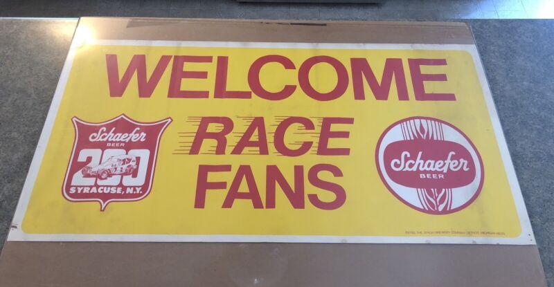 "Vintage Original Syracuse NY Schaefer Beer 200 Sprint Car Race Poster 36"" X 18"""