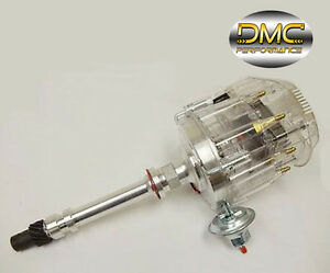 SBC-BBC-Chevy-305-350-454-V8s-HEI-Distributor-with-Clear-Cap-65k-65-000-Volt