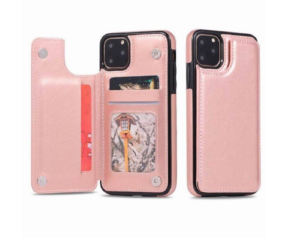 For iPhone12 Mini/12 Pro/12 Pro Max Case Leather Magnetic Card Wallet Stand Case Cases, Covers & Skins