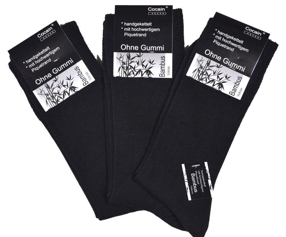 12, 24, 36, 48 Paar schwarze oder farbige Herren Damen Bambus-Socken ohne Gummi