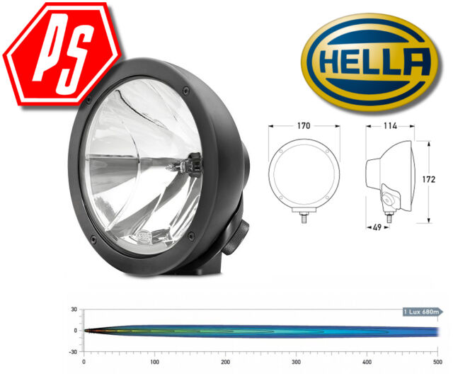 HELLA RALLYE FF 4000 Series Compact Pencil Beam 100W Driving Lamp - 12V - 1380
