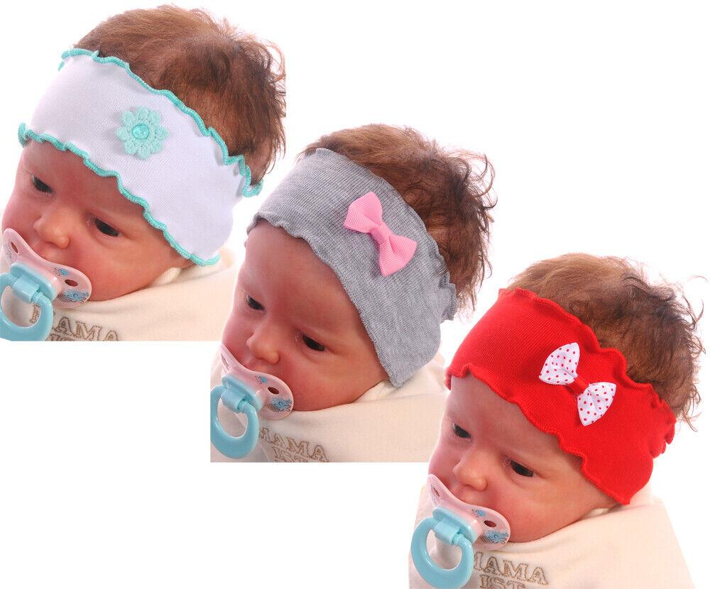 Stirnband Haarband Baby Haarschmuck Kopfband Kopfschmuck Taufe Rosa ab0Mon NEU