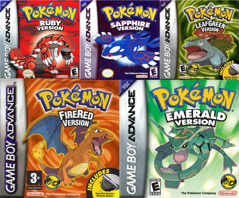 Leaf Green Pokemon List Game Gba Pokemon Leaf Green