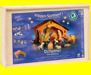 OSTHEIMER 6020 Krippen Sortiment Set 13teilig inkl. 12 Figuren + Krippe 3500 NEU