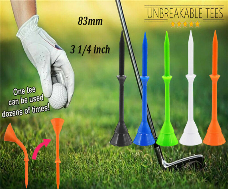 Golf Plastic Tees 83mm Cup Tee Unbreakable Long Durable 3 1/4 inch 30/60 Pack