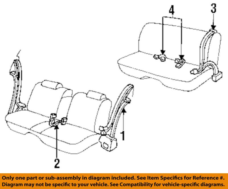 Oldsmobile GM OEM Delta 88 Front Seat-Belt & Buckle Retractor Right 12399626