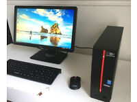 "Poss2Deliver - FULL PC - Intel QuadCore - 1Terabyte - 2x HDMI - 22"" Monitor- - Wifi Keyboard/Mouse"