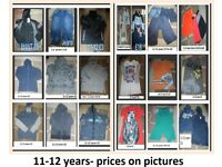 large bundle of boys clothes 11-12 years prices on pictures can send more pictures