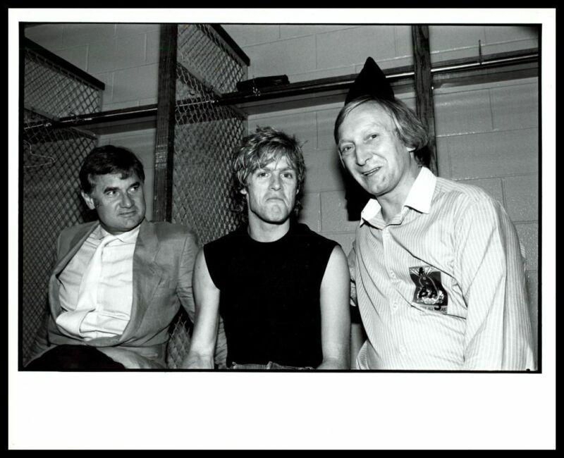 1980s BRYAN ADAMS & TONY BURDFIELD Vintage Original Photo CANADIAN ROCKER gp