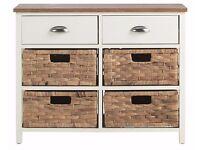 The Collection Addington 6 Drawer Hallway Unit - Cream (BRAND NEW)