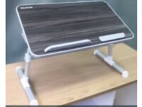 Laptop Bed Table - almost new (Foldable legs, Adjustable height/angle)-30% discounted rate