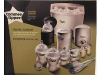 Brand New Tommee Tippee Complete Starter Set
