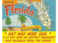 SAT NAV RENTAL*USA*SAVE $$$$$$/RENT BEFORE YOU GO/IDEAL FOR DISNEY-FLORIDA/UK SELLER