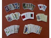 Selection of vintage cigarette cards