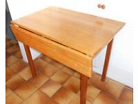 Solid Hardwood Drop Flap Kitchen or Work Table, or Desk