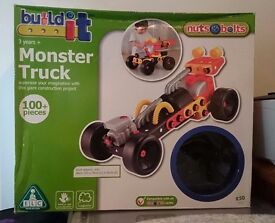 New and unopened Monster Truck Build It construction toy with 100+ pieces