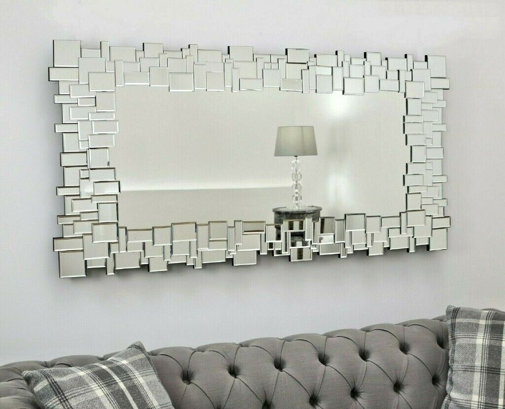 Beautiful Large Modern Wall Mirror 140cm X 70cm New For 120 In