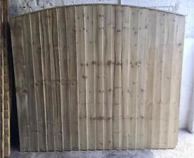 HEAVY DUTY PRESSURE TREATED FEATHER EDGE BOW TOP WOODEN FENCE PANELS 🌲