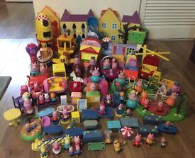 Peppa Pig toys job lot.