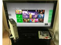 XBox 360, 2 controllers, Kinect and 5 games
