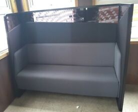 Black & Grey Bench Seating / Waiting Area / Reception Chair