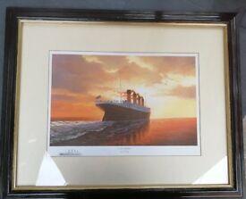 Large framed Titanic print