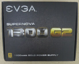 Power Supply EVGA 1300 G2 Supernova 1300W PSU 1300 Watt Motherboard Graphics Card Memory RAM CPU