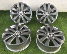 17 Genuine VW Golf GTD Twin Spoke Alloys 5K0 601 025R Custom powder coated 5x112