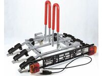 New Titan 3 Silver Towbar Mounted 3 Bike Rack / Three Cycle Carrier Tilting system