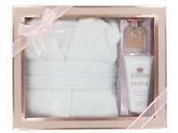 BATH ROBE BEAUTY GIFT SET-STYLE & GRACE UTOPIA EXTRAVAGANT ROBE SET-50ML EDP + 150ML B/L + BATH ROBE