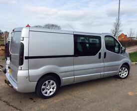 Vauxhall vivaro lwb crew cab 1.9cdti 100bhp