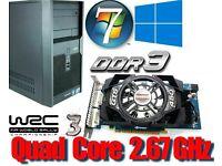 Gaming PC, Intel QUAD CORE 2.67GHz, GTS450 Gddr5 , 4GB Ram, 320GB HD